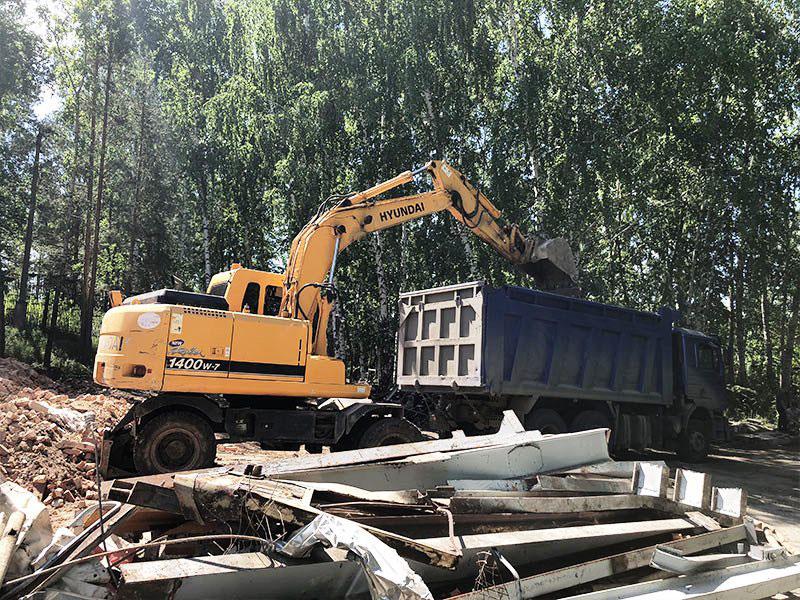 РТИ - фото10. Вывоз строительного мусора после ликвидации здания