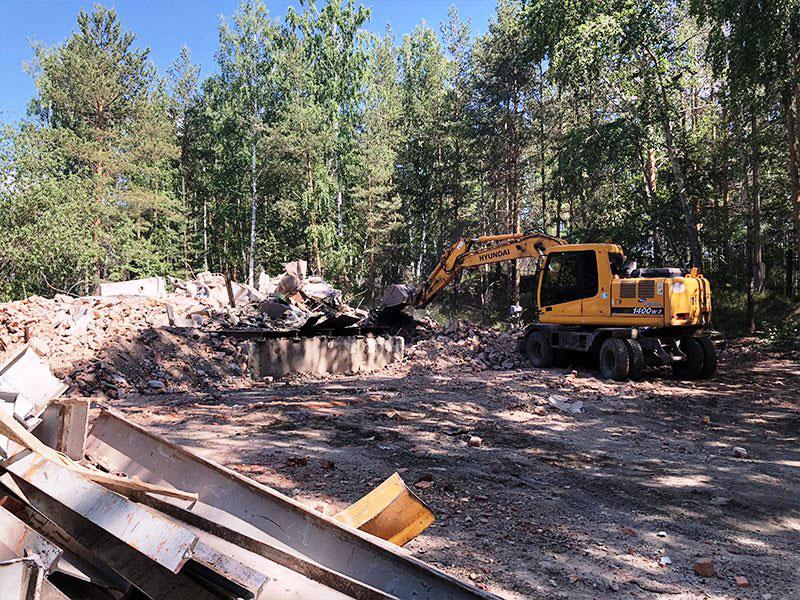 РТИ - фото11. Зачистка местности после разрушения здания