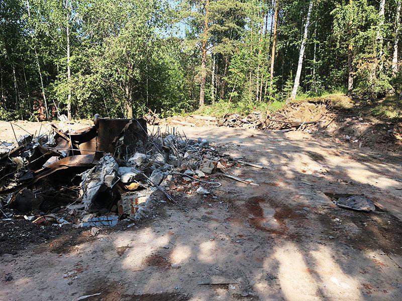 РТИ - фото12. Зачистка территории после разрушения здания