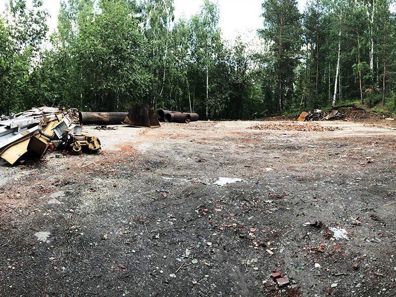 РТИ - фото13. Зачистка местности после ликвидации здания