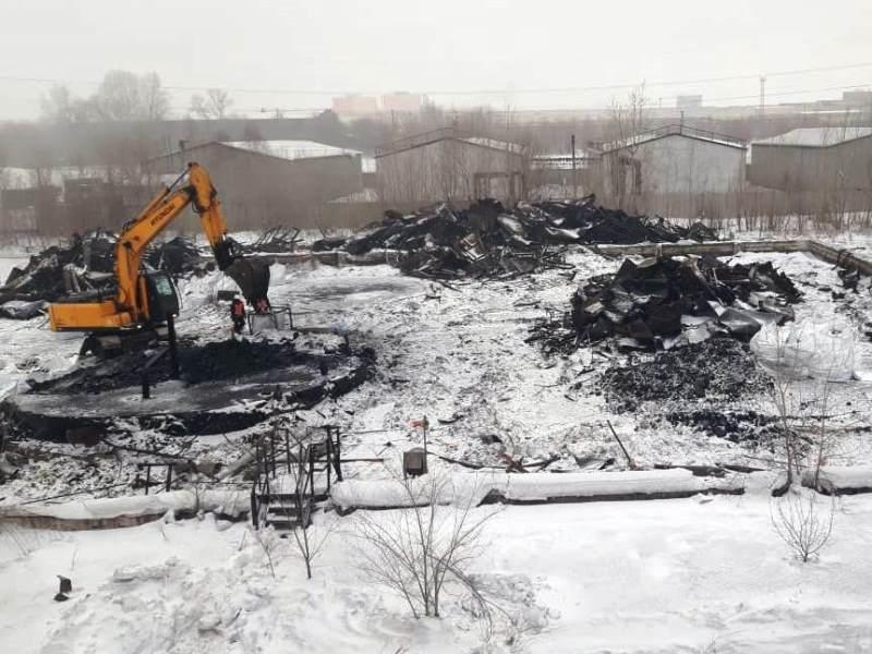 ММК. Фото1 - площадка демонтажа 4-ых резервуаров РВС-1000