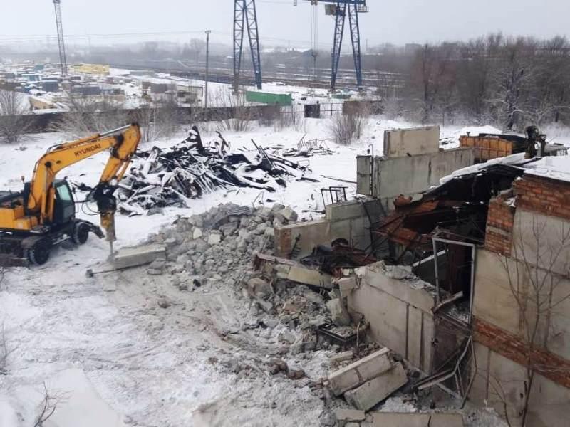 ММК. Фото4 - демонтаж битумной станции