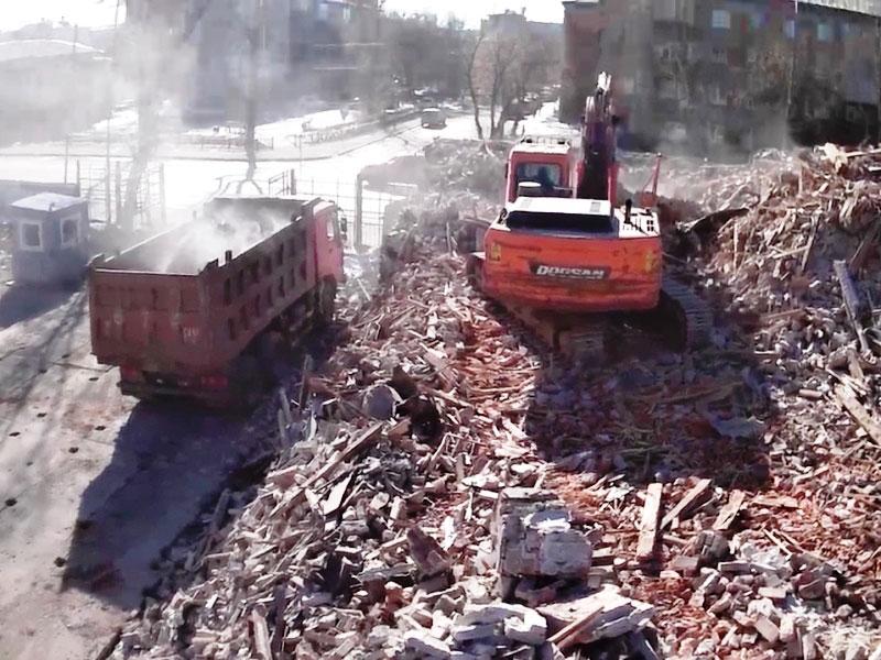 ОАО Иркутскэнерго - фото2. Демонтаж здания 2 этаж