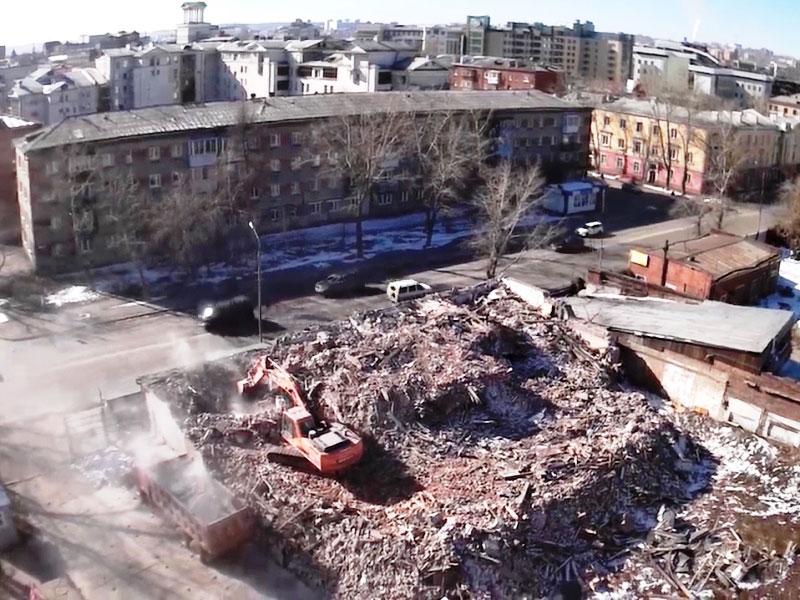 ОАО Иркутскэнерго - фото3. Демонтаж здания 1 этаж