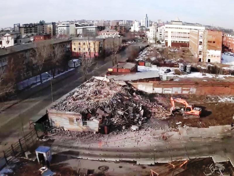 ОАО Иркутскэнерго - фото6. Демонтаж строения панорама