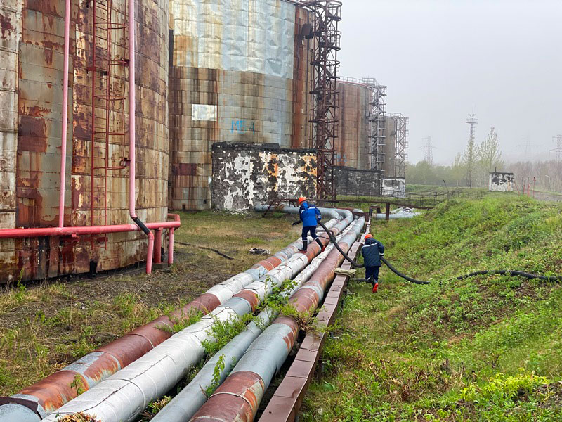 КамчатскЭнерго. Фото2 - подготовка к перекачка мертвого остатка